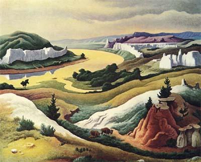 "Thomas Hart Benton's ""Lewis and Clark at Eagle Creek."""